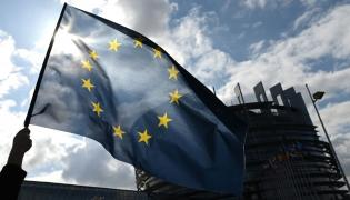 Europarlament i flaga UE