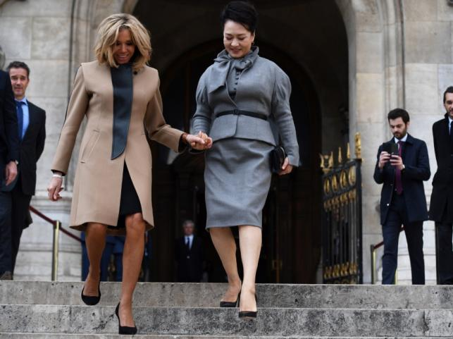 Brigitte Macron i Peng Liyuan