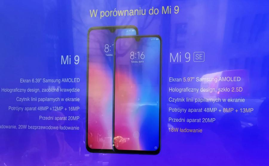Xiaomi Mi9 SE vs Xiaomi Mi9