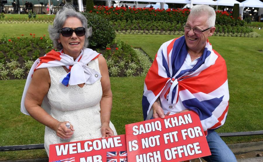 Brytyjczycy witają Trumpa