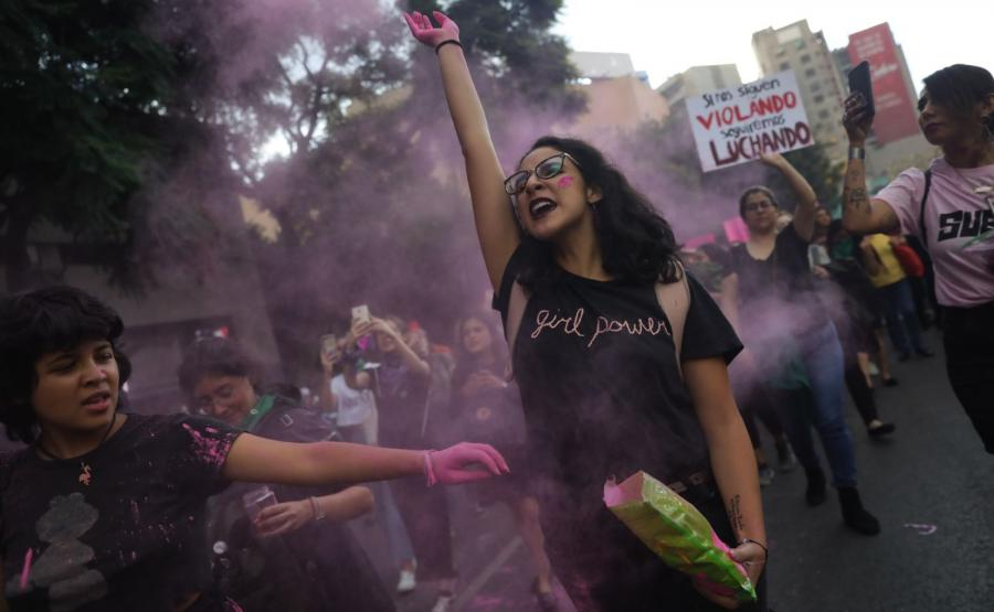 Protest przeciw przemocy wobec kobiet w Meksyku