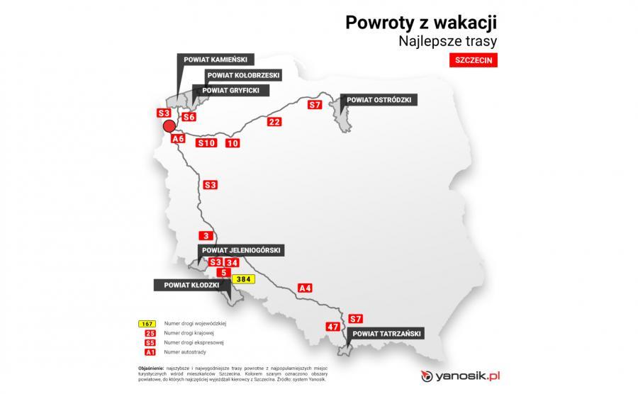 Najlepsze trasy - Szczecin