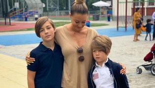 Małgorzata Rozenek-Majdan z synami