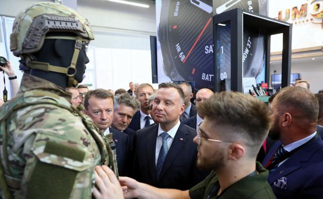prezydent na targach w Kielcach