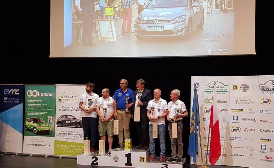 Podium 2. Rajdu Polski Nowych Energii