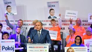 Grzegorz Schetyna na konwencji KO w Jeleniej Górze