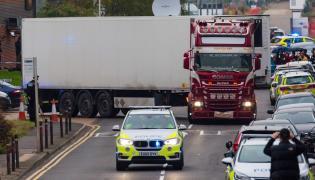 Ciężarówka, w której znaleziono zwłoki