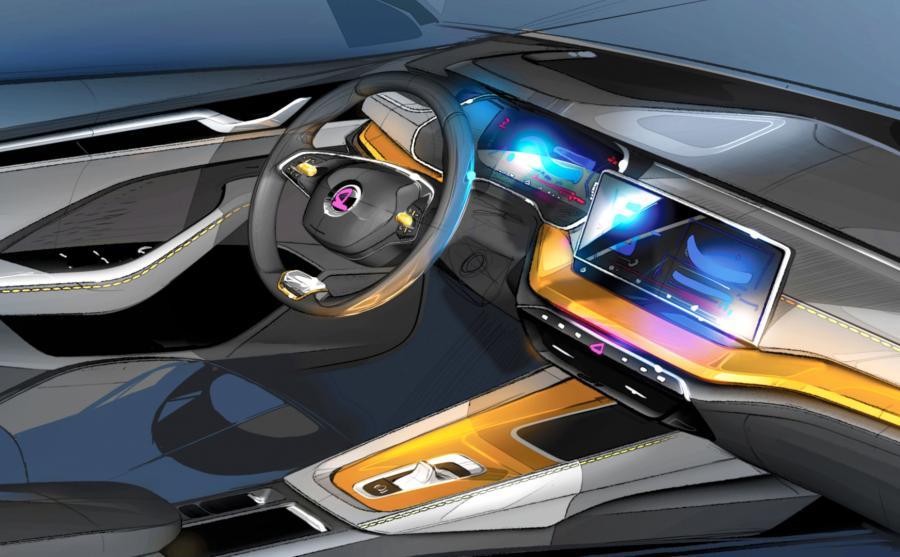 We wnętrzu auta zastosowano nowoczesne rozwiązania multimedialne