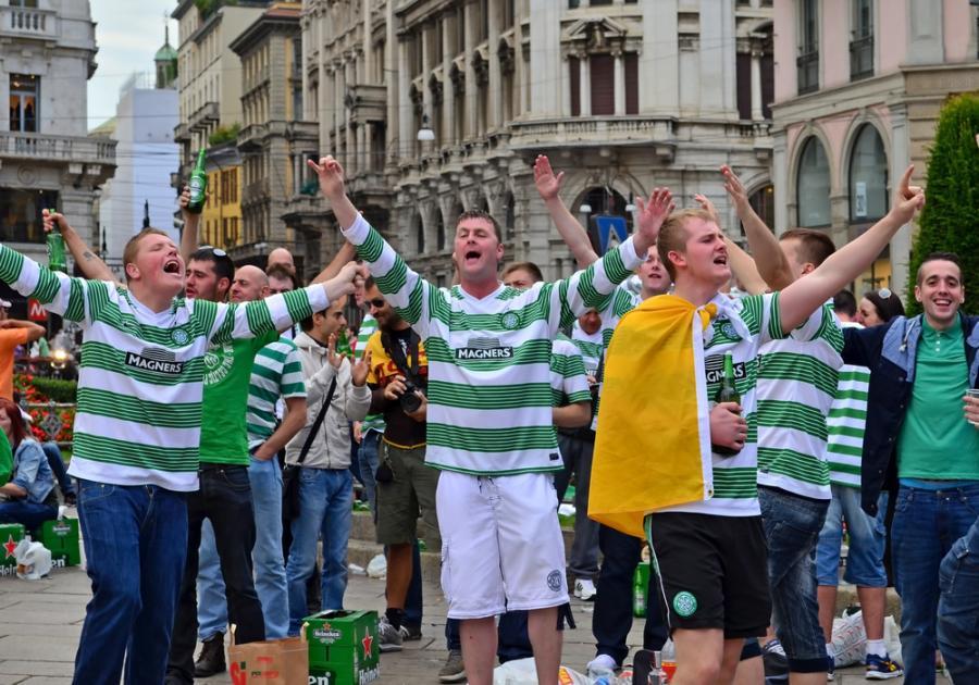 Kibice Celtiku Glasgow