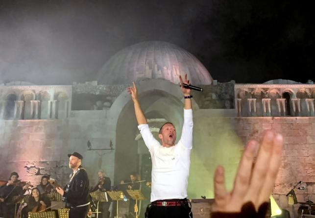 Koncert Coldplay w Jordanii, 23 listopada 2019