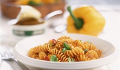 Tomato Fusilli Pasta --- Image by © Roulier/Turiot/photocuisine/Corbis