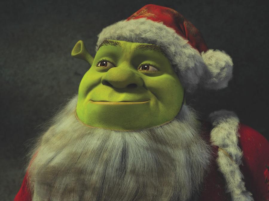 Shrek jako Mikołaj, prawie Święty