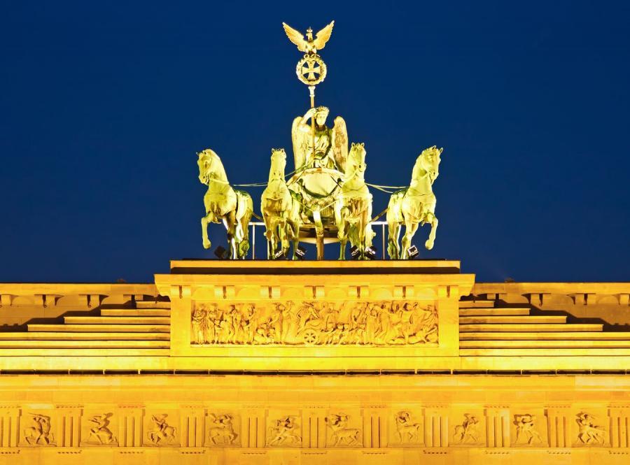 Kwadryga na Bramie Brandenburskiej w Berlinie