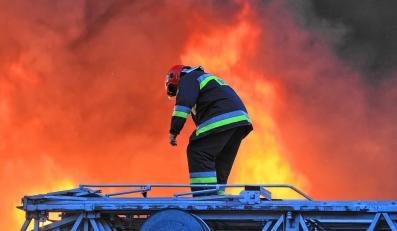 Pożar w ośrodku wypoczynkowym w Łebie