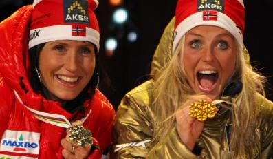 Norweskie biegaczki: Marit Bjoergen i Therese Johaug