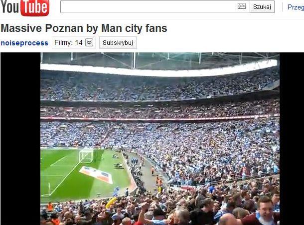 Kibice Man City naśladują fanów Lecha Poznań