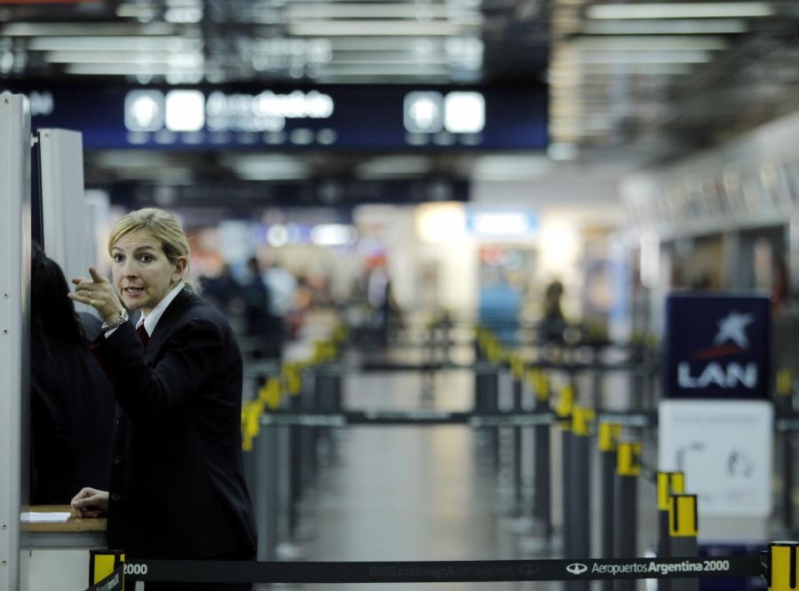 Opustoszałe lotnisko w Buenos Aires