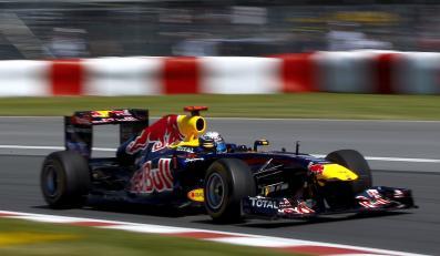 Sebastian Vettel na torze w Kanadzie