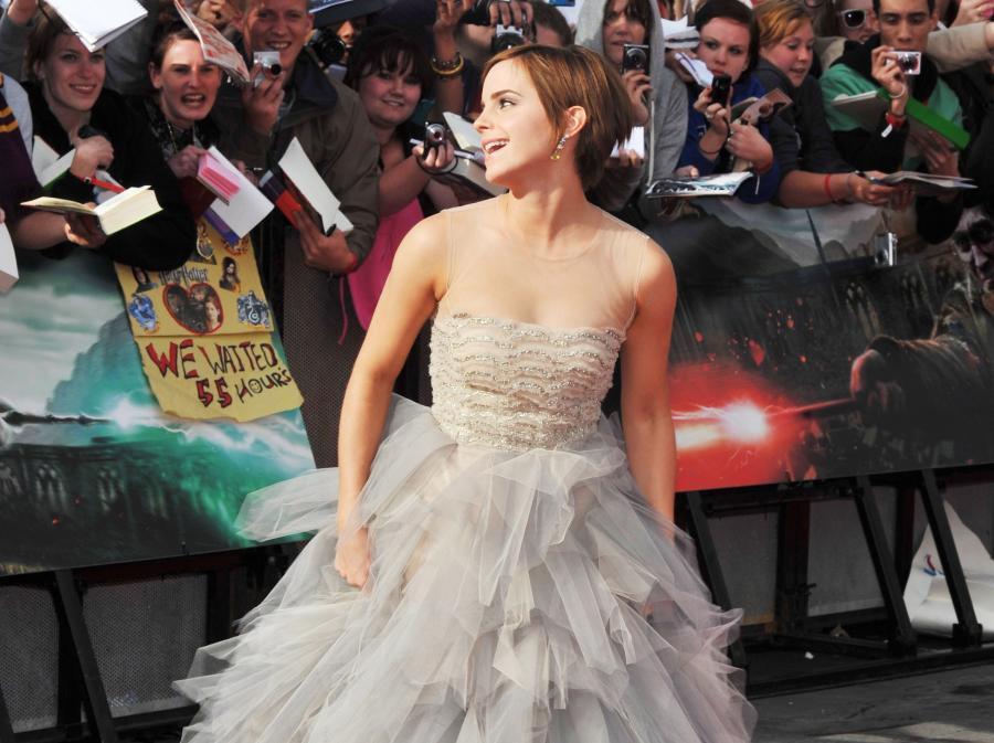 Emma Watson na londyńskiej premierze Harry\'ego Pottera