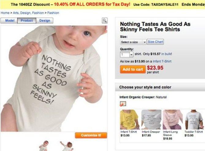 Koszulka z mottem Kate Moss w ofercie sklepu zazzle.co.uk