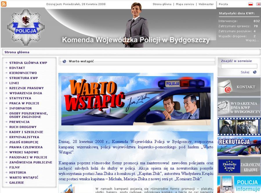 Kapitan Jan Żbik zrzucił milicyjny mundur i już jako policjant rusza na pomoc kujawsko-pomorskiej komendzie