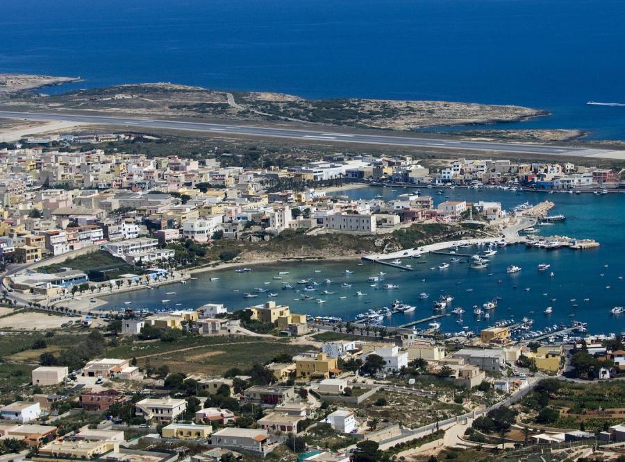 Włoska wyspa Lampedusa