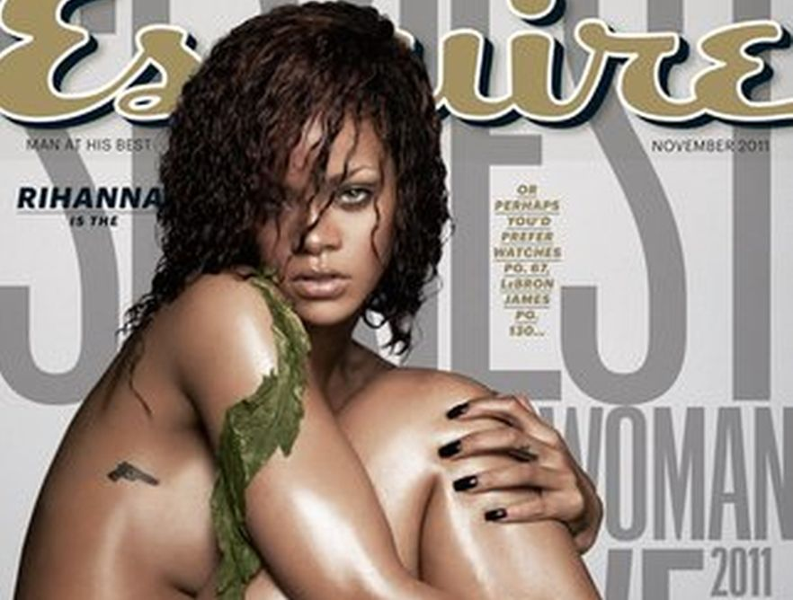 Naga Rihanna na okładce \