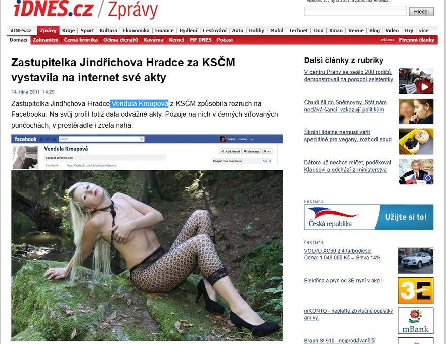 Radna czeskiej partii komunistycznej rozebrała się na Facebooku