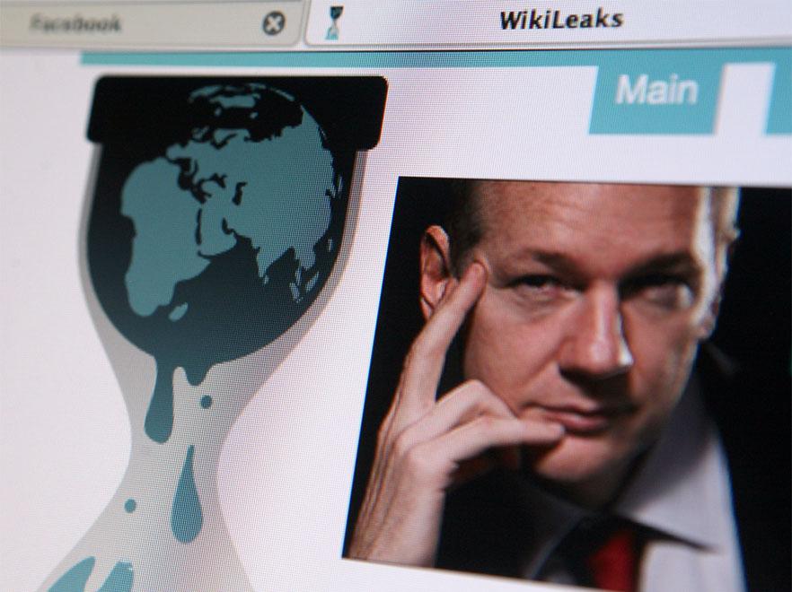 Strona internetowa Wikileaks i jej twórca, Julian Assange