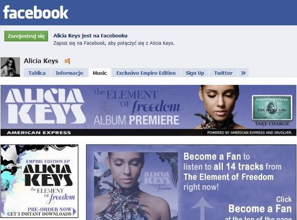 Posłuchaj płyty Alicii Keys na Facebooku