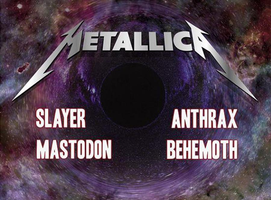 Metallica, Slayer i inni zjadą do stolicy
