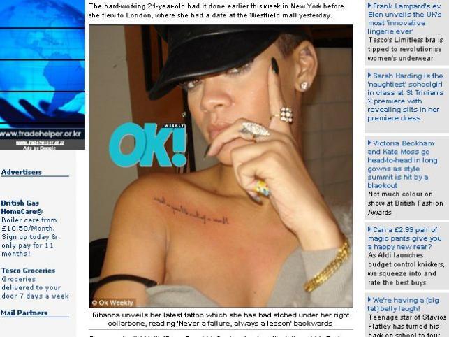 Nowy Tatuaż Rihanny Przypomina O Pobiciu Rozrywka Zabawa I