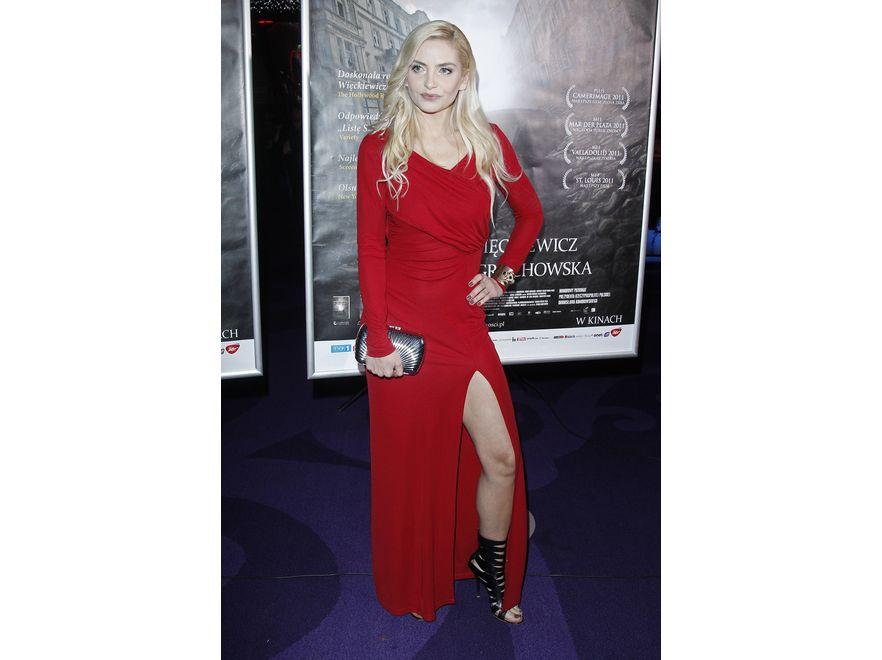 Maja Frykowska na premierze filmu \
