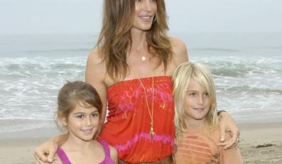 Modelka Cindy Crawford, jej córka Kaia Gerber i syn Presley Gerber