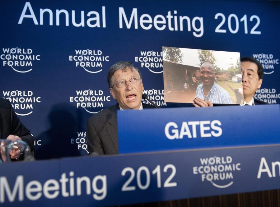Bill Gates na szczycie ekonomicznym w Davos