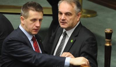 Politycy PSL: Jan Bury i Waldemar Pawlak