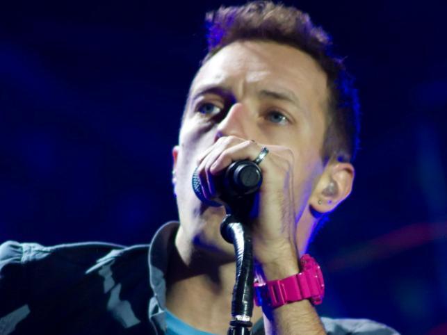 Coldplay podczas koncertu w hali O2 Arena w Londynie – 9 grudnia 2011