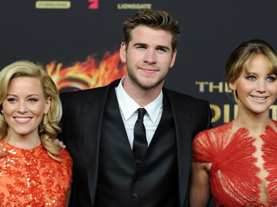 Elizabeth Banks, Liam Hemsworth i Jennifer Lawrence