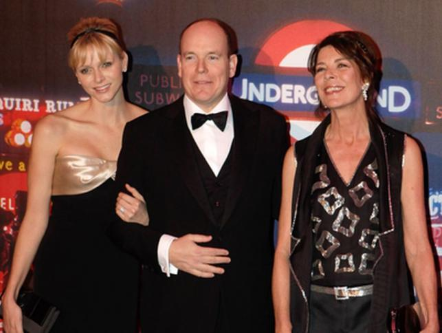 Książę Albert wraz z księżna i księżniczką z Monaco na Rose Ball w Monte Carlo