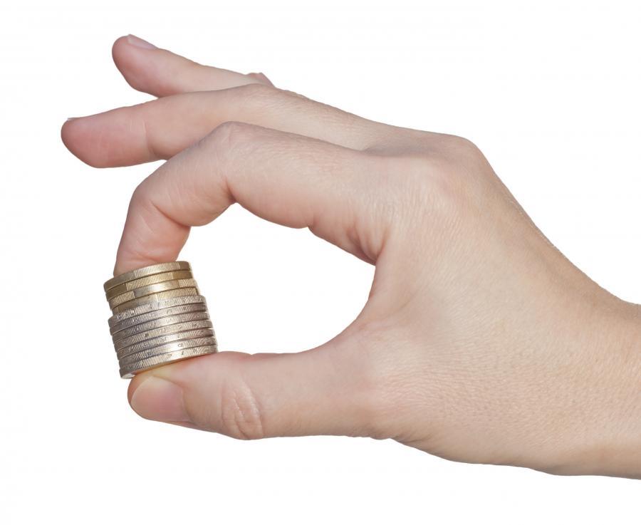 pieniądze monety kasa