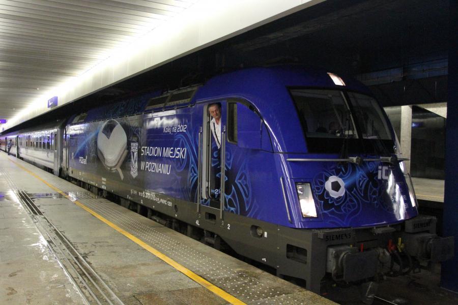 Lokomotywa Siemens w barwach na Euro 2012