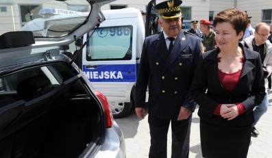 Nowe radiowozy warszawskich strażników