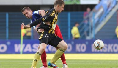 Fragment meczu Piast Gliwice - GKS Katowice