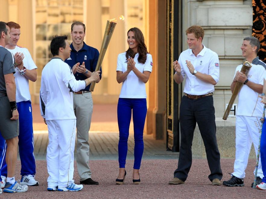 Księżna Catherine i książę William oraz Harry