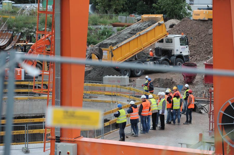 Awaria na budowie II linii metra w Warszawie