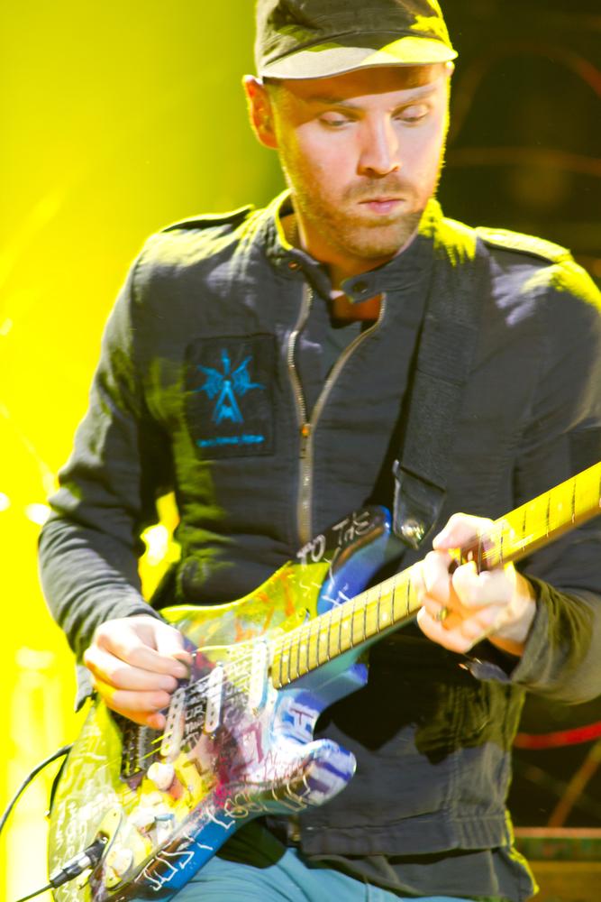 Coldplay podczas koncertu w hali O2 Arena w Londynie –9 grudnia 2011