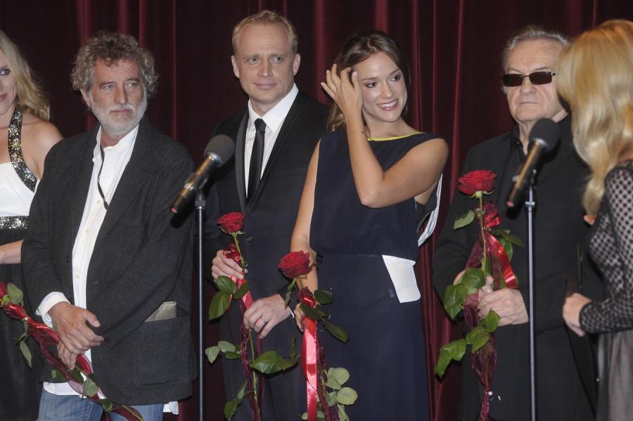 """Twórcy """"Bitwy pod Wiedniem"""": Renzo Martinelli, Piotr Adamczyk, Alicja Bachleda-Curuś i Jerzy Skolimowski"""