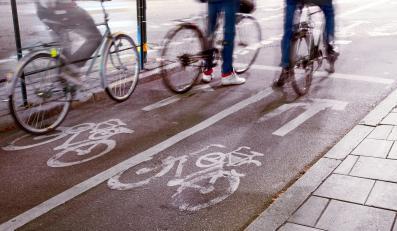 Rowerzyści w mieście