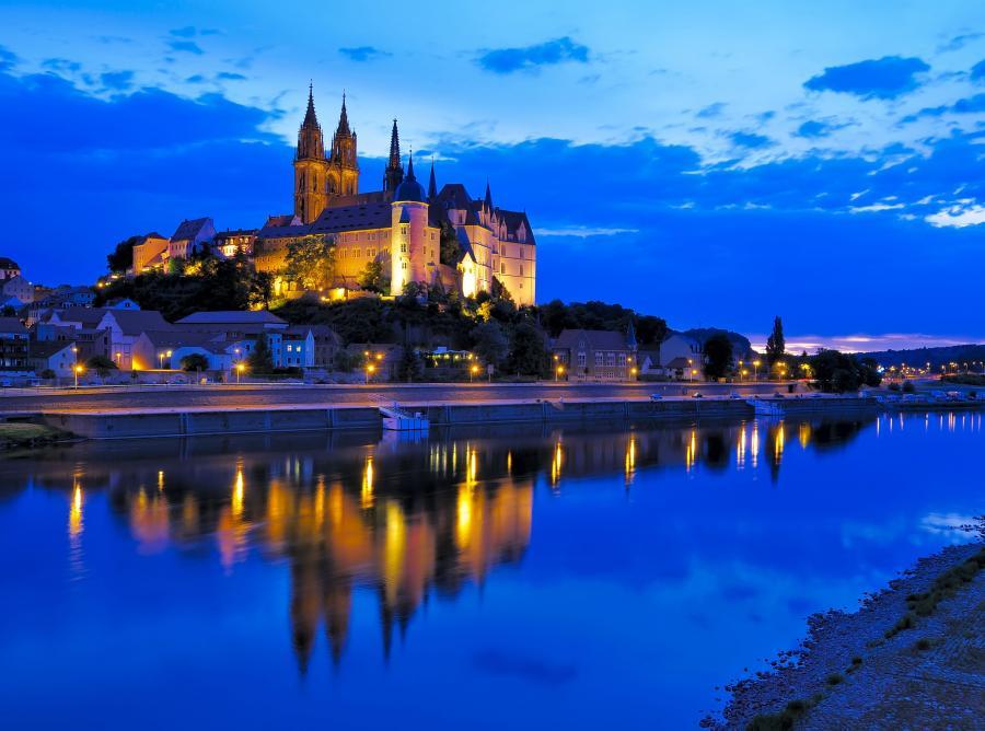Piękny zamek Albrechtsburg
