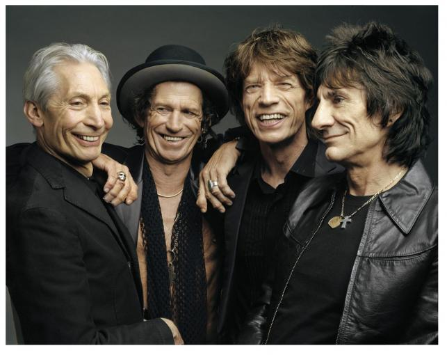 Charlie Watts, Keith Richards, Mick Jagger i Ronnie Wood